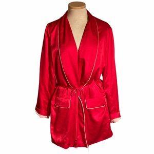 Victoria's Secret Silk Red Robe NWT Size L